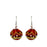 Allegra Red Sphere Drop Earrings