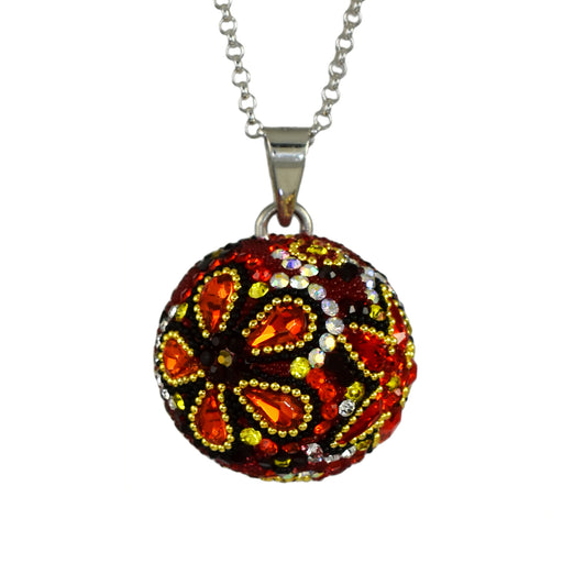 Allegra Red Sphere Chimeball Pendant