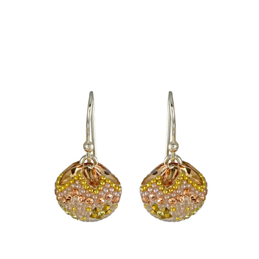 Allegra Gold Dream Sphere Drop Earrings