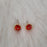 Allegra Garnet Tiny Stud Earrings