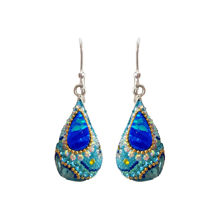 Allegra Turquoise Shimmer Drop Earrings