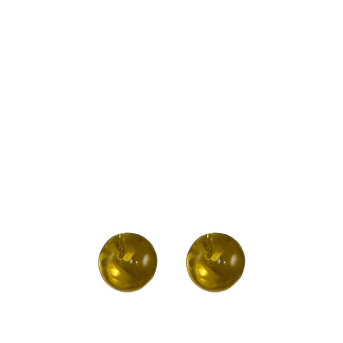 Amber Ball Stud Earring