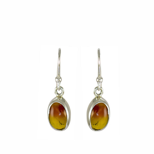 Amber Dainty Oval Drop Earrings