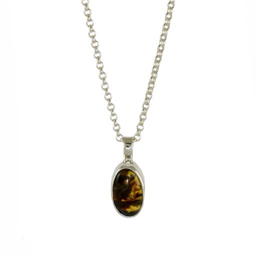Amber Dainty Oval Pendant