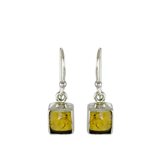 Amber Dainty Square Drop Earrings