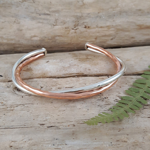 Duo Arista Copper/Silver Cuff