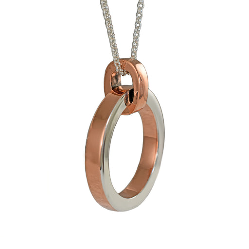 Duo Aura Silver Copper Pendant