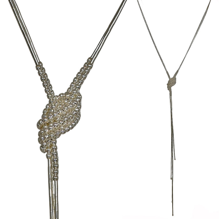 Evelyn Bobble Lariat Necklace