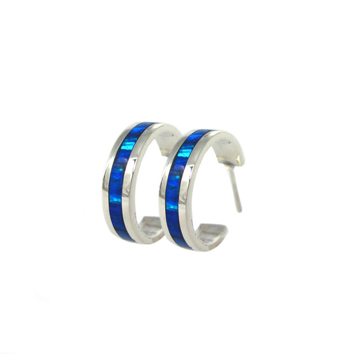 Flinder Blue Small Hoop Earrings