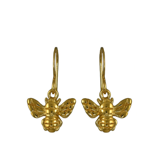 Bee Gold Drop Earrings