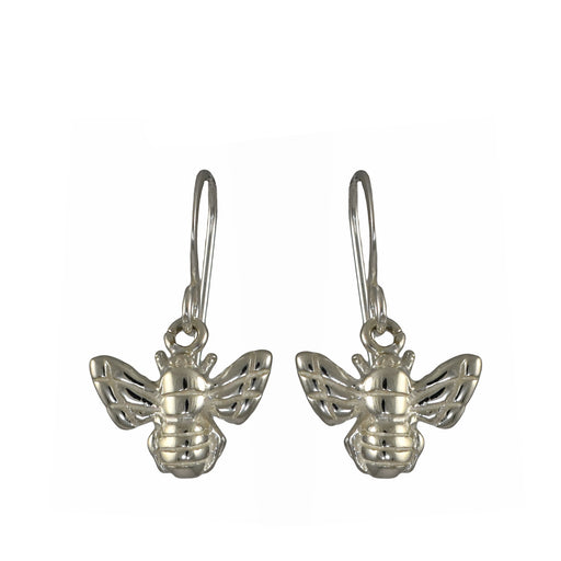 Bee Silver Drop Earrings