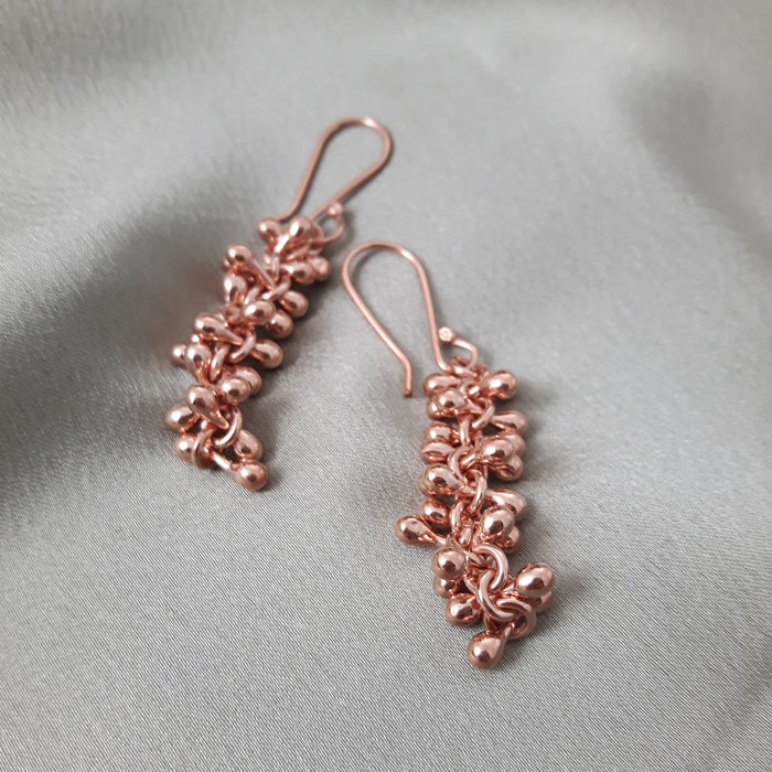 Bella Rose Gold Drop Earrings