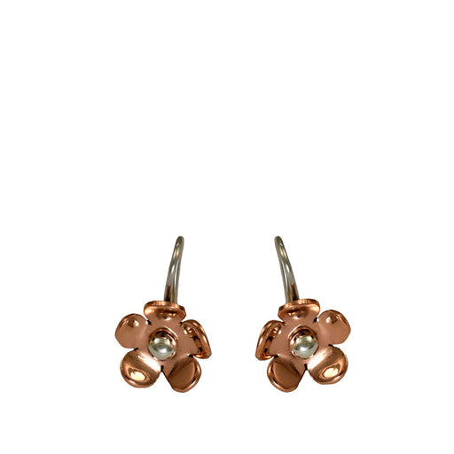Flora Blossom Copper Flower Drop Earrings