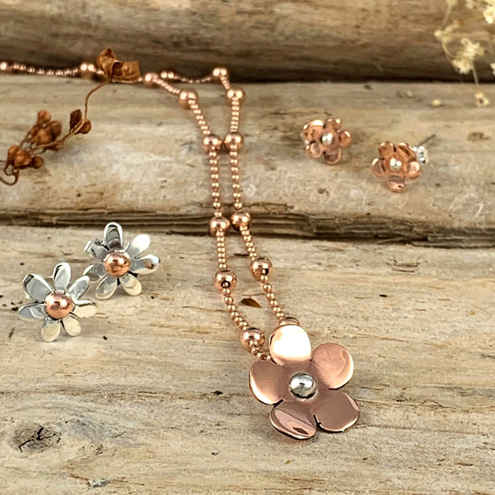 Flora Blossom Copper Flower Pendant