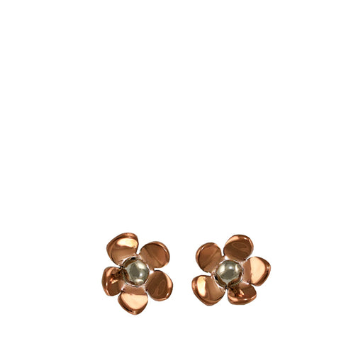 Flora Blossom Copper Flower Stud Earrings