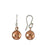Duo Bola Copper Hammered Earrings