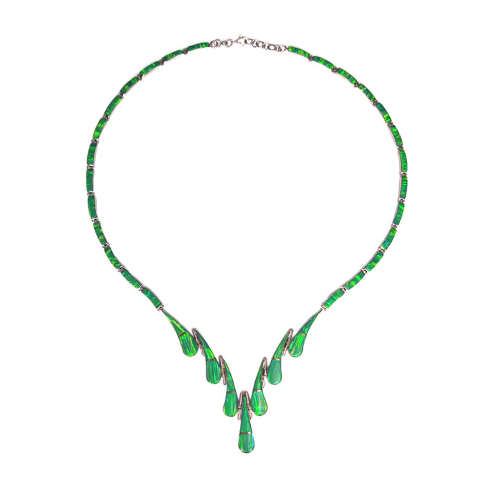 Flinder Green Elegance Teardrop Necklace