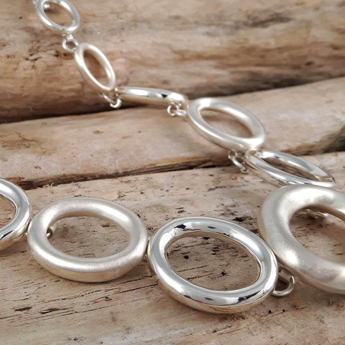 Celeste Oval Linked Necklace