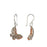 Celtic Butterfly Silver/Copper Drop Earrings