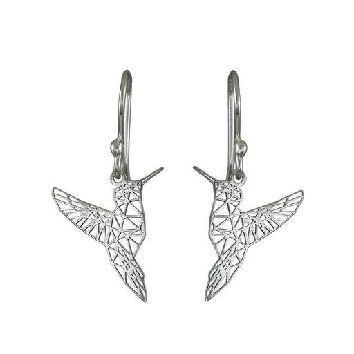 Celtic Hummingbird Drop Earrings