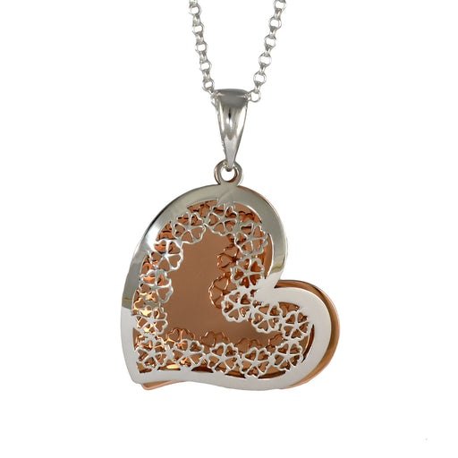 Celtic Heart Silver/Copper Pendant