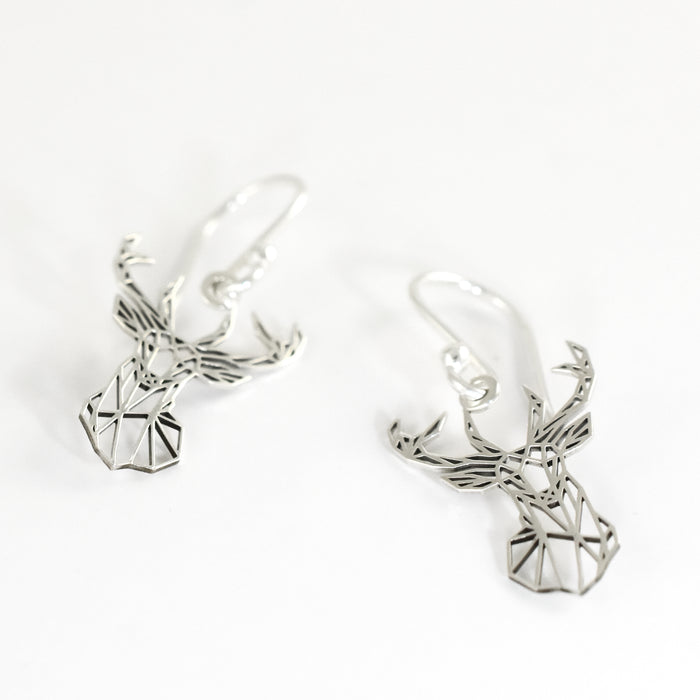 Celtic Stag Drop Earrings