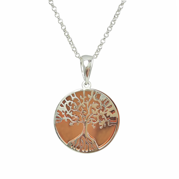 Celtic Tree Of Life Silver/Copper Pendant