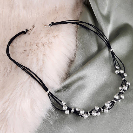 Chablis Black Cord Necklace