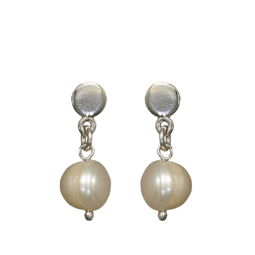 Clarissa Small White Drop Earrings
