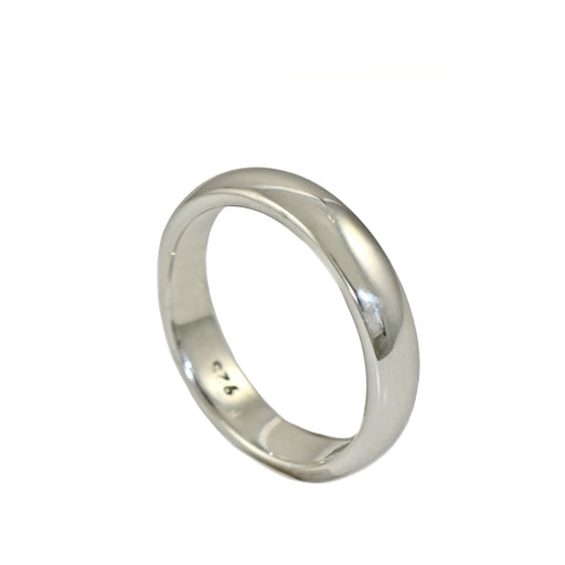 Classic 4mm D Band Wedding Ring