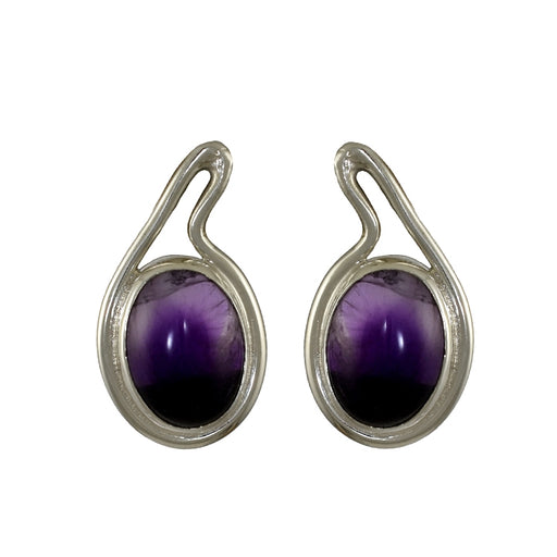 Jolie Amethyst Stud Earrings