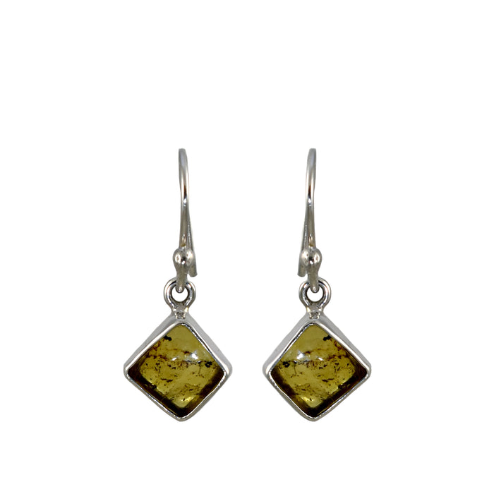 Amber Dainty Diamond Drop Earrings