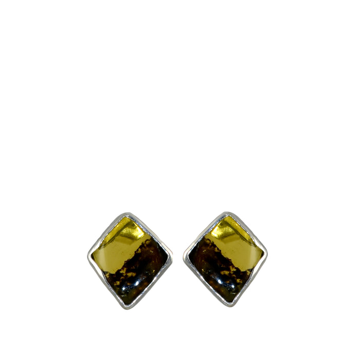 Amber Dainty Diamond Stud Earrings