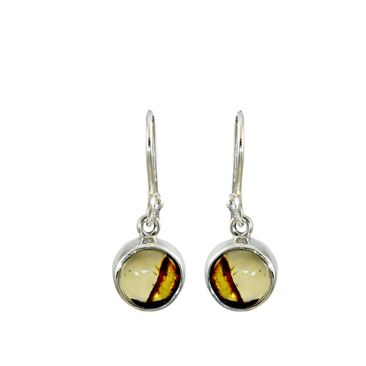 Amber Dainty Round Drop Earrings