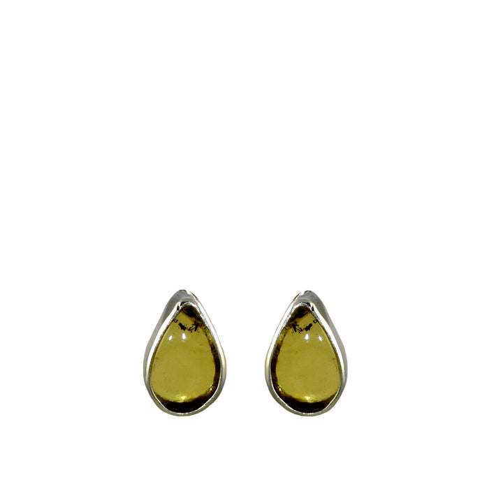 Amber Dainty Teardrop Stud Earrings