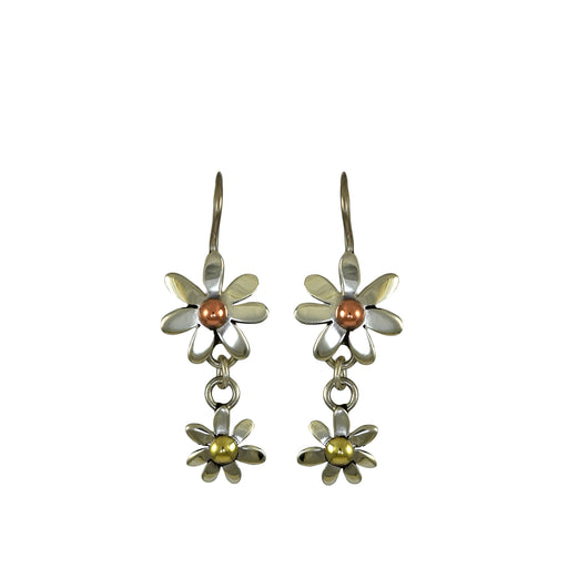 Flora Daisy Chain Double Drop Earrings