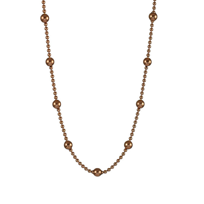 Dotty Rose Gold Chain Necklace 40-45