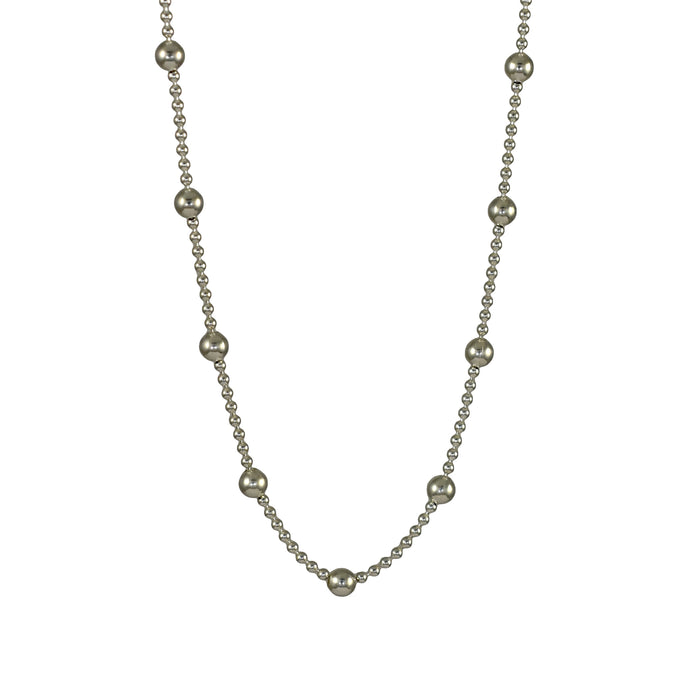 Dotty Silver Chain Necklace 40-45
