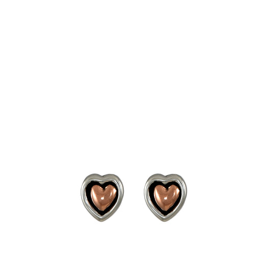 Duo Classic Heart Stud Earrings