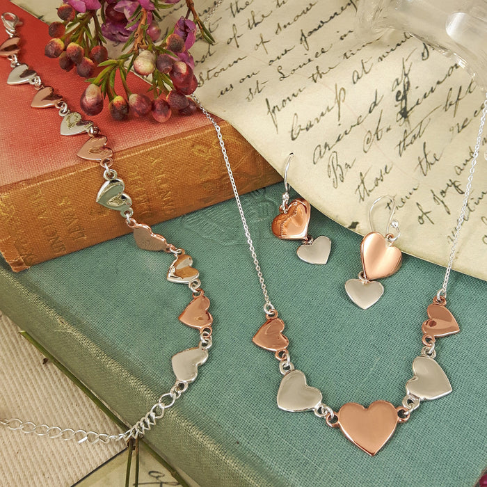 Duo Heart AG/CU Necklace