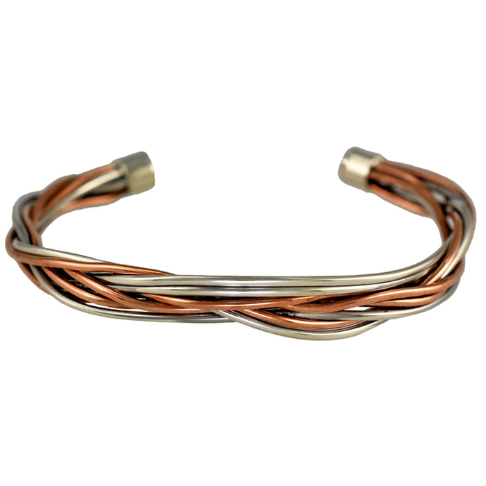 Duo Ivy Lattice Silver/Copper Cuff