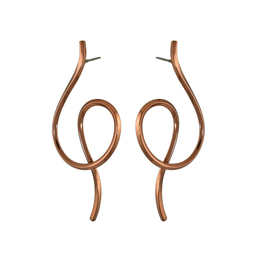 Duo Epsilon Silver/Copper Stud Earrings