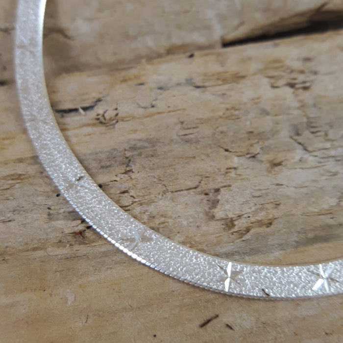 Star Snake Chain 18.5cm Medium Silver Bracelet