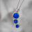 Flinder Blue Dotty Pendant