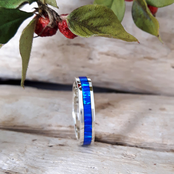 Flinder Blue Opal Ring