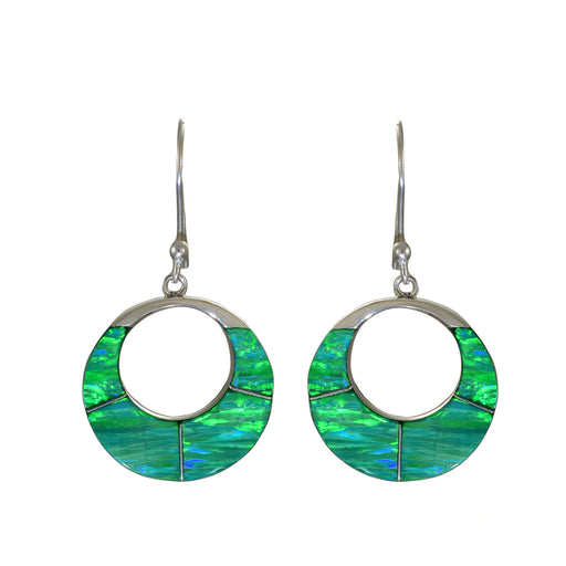 Flinder Green Bonita Round Hoop Drop Earrings