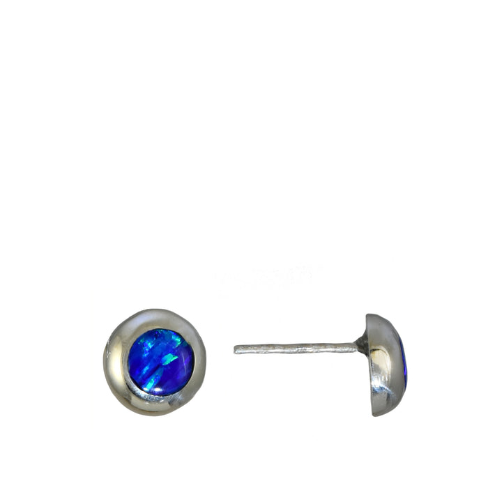 Flinder Circle Blue Stud Earrings