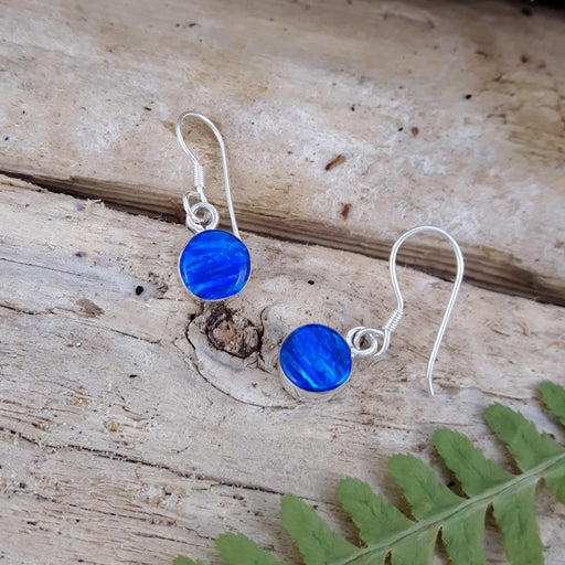 Flinder Blue Dotty Drop Earrings