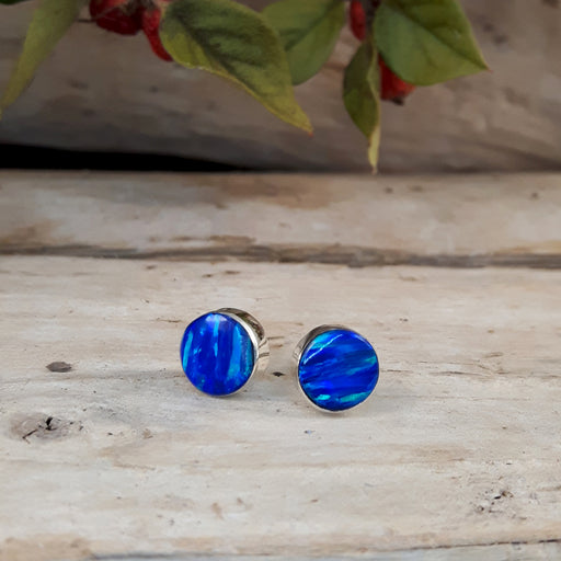 Flinder Blue Dotty Stud Earrings