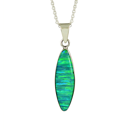 Flinder Green Oval Pendant